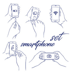 Icon set smartphone vector