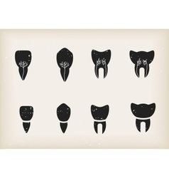 Teeth icons vector image vector image