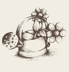 vintage gardening utensils vector image vector image