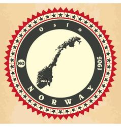Vintage label-sticker cards of Norway vector image vector image