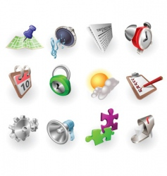 web and application icon set vector image vector image