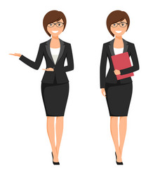 a young businesswoman vector image