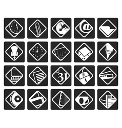 Black Business and Office tools icons vector image vector image