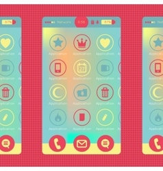Colorful smartphone and tablet graphic vector image