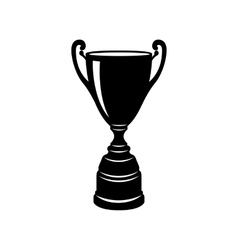 Golden trophy cup icon simple style vector image vector image