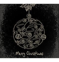 holiday ball vector image vector image
