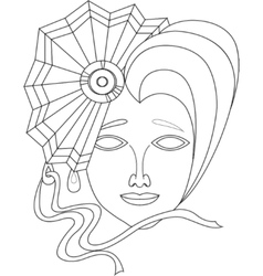 icon of carnival mask on white background vector image vector image