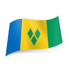 national flag of saint vincent and the grenadines vector image vector image