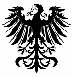 silhouette of heraldic eagle vector image vector image