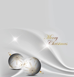 silver elegant christmas background with christmas vector image vector image
