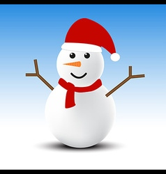 Snowman in winter vector image