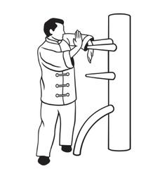 Wing Chun vector image vector image