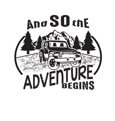 Adventure quote good for cricut and so vector