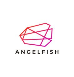 Angel fish geometric polygonal gradient logo icon vector