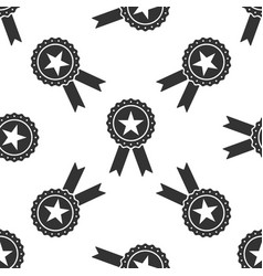 award medal with star and ribbon seamless pattern vector image