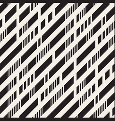 black and white irregular dashed lines pattern vector image