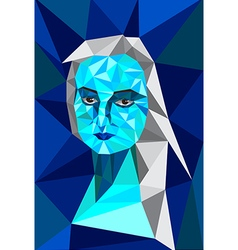 Blue triangle woman vector