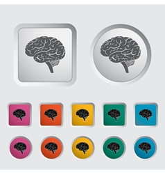Brain icon 2 vector image