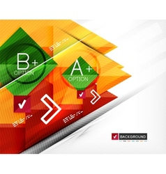 Business geometric infographic option banner vector