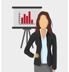 business woman and office related items vector image