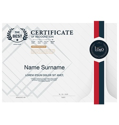 Certificate OF RECOGNITION frame design template vector
