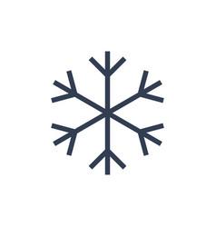Chsnowflake icon black silhouette snow flake sign vector