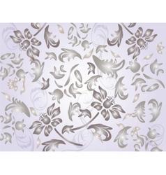 Classic shinny flower ornament pattern vector