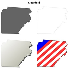 Clearfield Map Icon Set vector