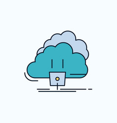 cloud connection energy network power flat icon vector image