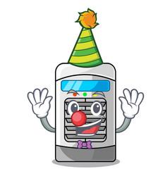Clown air cooler in cartoon shape vector
