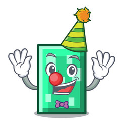 Clown rectangle mascot cartoon style vector