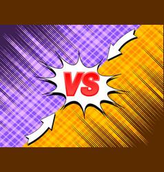 comic explosive duel concept vector image