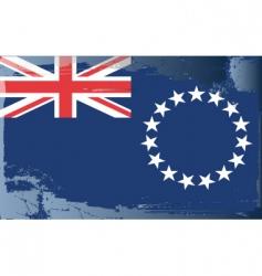 cook islands national flag vector image