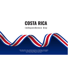 Costa rica independence day ribbon banner vector