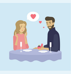 dating couple offer marriage love vector image