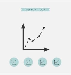 Diagram icon simple vector