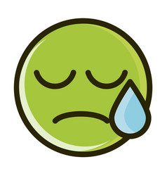 disappointment funny smiley emoticon face vector image