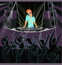 dj party background background of vector image