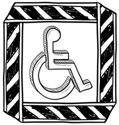 Doodle handicap symbol vector
