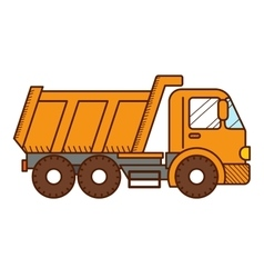 Dump Truck isolated on white background vector image