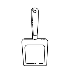 dustpan clean isolated icon vector image