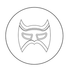 Eye mask icon in outline style isolated on white vector