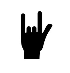 figure hand with rock symbol and musical signals vector image