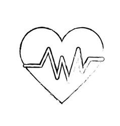 Figure heartbeat element to know cardiac rhythm vector