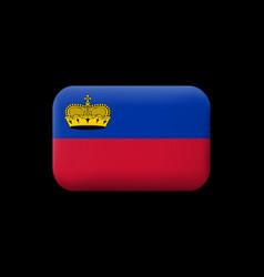 Flag liechtenstein matted icon and button vector