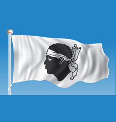 flag of corsica vector image