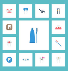 Flat icons equipment radiology furniture and vector