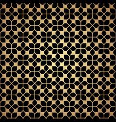 flower golden geometric seamless pattern in vector image