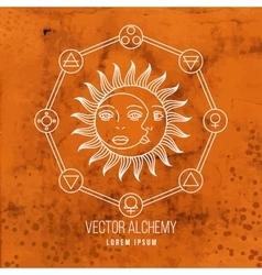 geometric alchemy symbol vector image