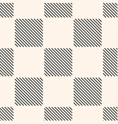 Geometric seamless pattern with squares stripes vector